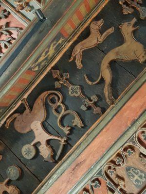 Détail plafond - hotel du Doyenné